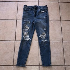 American Eagle Light Blue Ripped Jeans